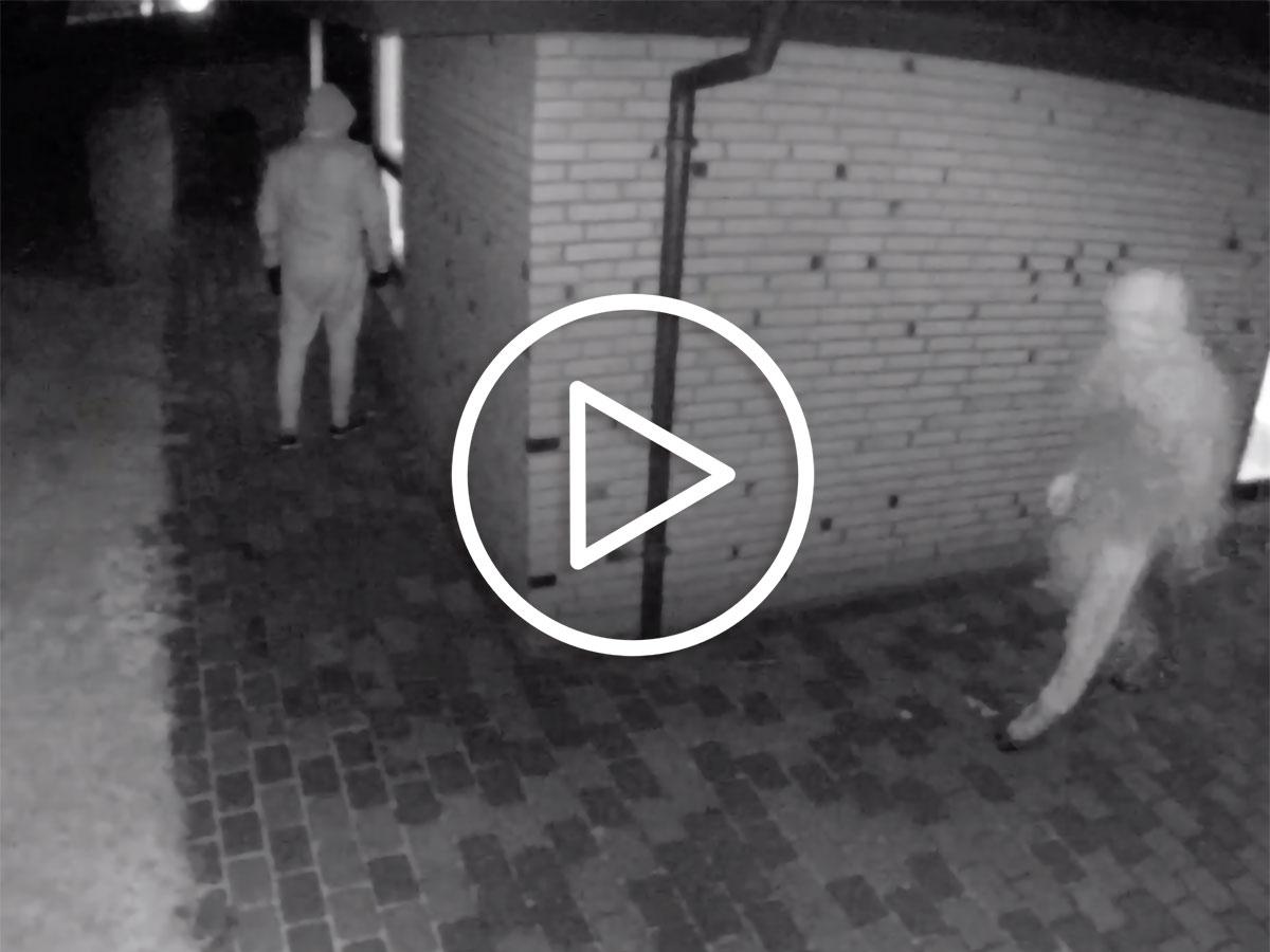 Overvågningsvideo af forhindret indbrud - SikkertHjem™ Scandinavia